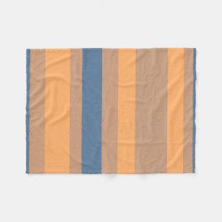 Listras azuis empoeiradas alaranjadas de Flecked Cobertor De Lã
