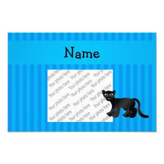 Listras azuis personalizadas da pantera conhecida fotografia