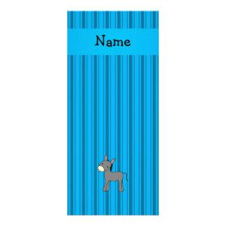 Listras azuis personalizadas do asno conhecido planfeto informativo colorido