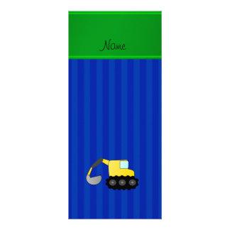 Listras azuis personalizadas do backhoe conhecido panfleto informativo personalizado