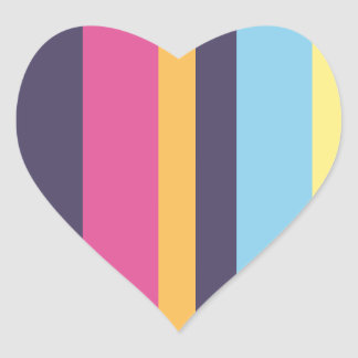 Listras bolivianas adesivo coração