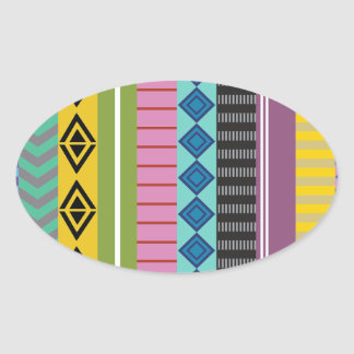 Listras bolivianas adesivo oval