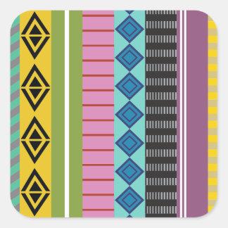 Listras bolivianas adesivo quadrado