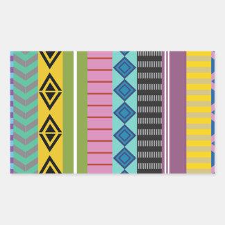 Listras bolivianas adesivo retangular