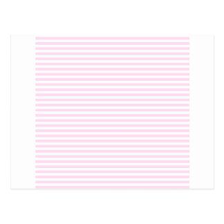 Listras - brancas e laço cor-de-rosa cartao postal