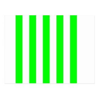 Listras - brancas e verde elétrico cartão postal