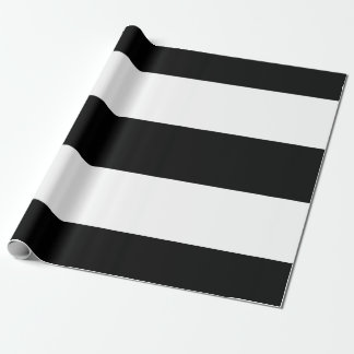 Listras brancas pretas papel de presente
