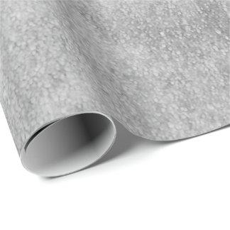 Listras cinzentas abstratas industriais da pintura papel de presente
