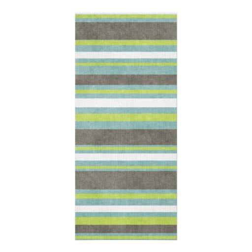 Listras cinzentas do verde azul da cerceta modelos de panfletos informativos