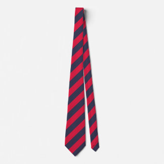 Listras clássicas do vermelho e de azuis marinhos gravata