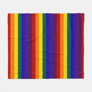 Listras coloridas arco-íris cobertor de lã