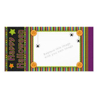 Listras coloridas - cores e teste padrão do Dia Cartão Com Foto