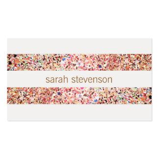 Listras coloridas dos confetes do divertimento cartão de visita