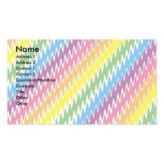 Listras coloridas elétricas cartão de visita