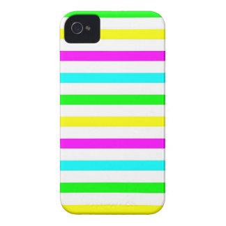 Listras coloridas engraçadas - capa de iphone 4 capinhas iPhone 4
