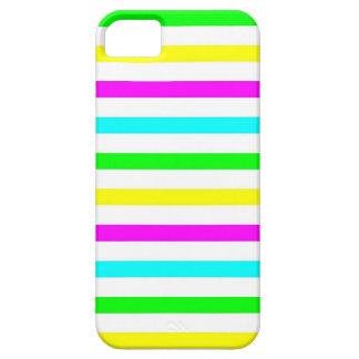Listras coloridas engraçadas - caso do iPhone 5 Capas Para iPhone 5