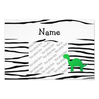 Listras conhecidas personalizadas da zebra do dino impressão de foto