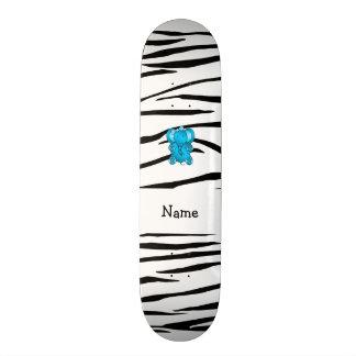 Listras conhecidas personalizadas da zebra do elef shape de skate 18,7cm