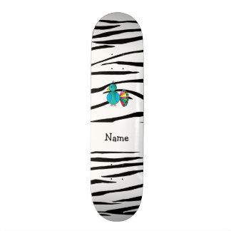 Listras conhecidas personalizadas da zebra do pavã skates