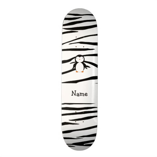 Listras conhecidas personalizadas da zebra do ping skate personalizado