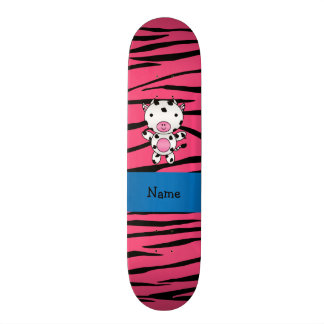 Listras conhecidas personalizadas da zebra do rosa shape de skate 20,6cm