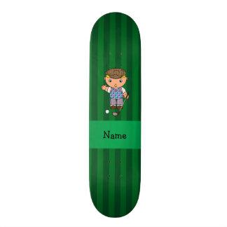 Listras conhecidas personalizadas do verde do joga skates