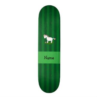 Listras conhecidas personalizadas do verde do unic shape de skate 20cm