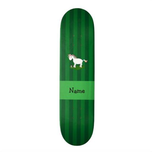 Listras conhecidas personalizadas do verde do unic skateboard