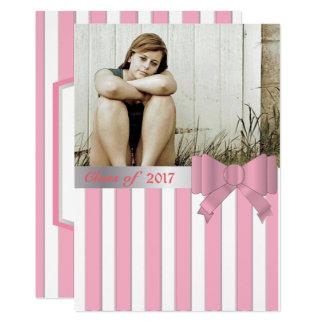 Listras & convite cor-de-rosa da graduação da