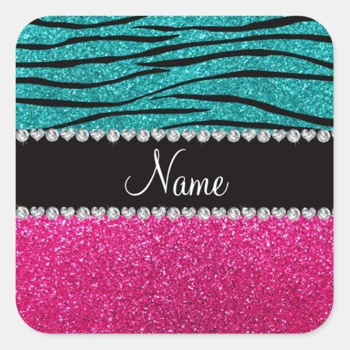 Listras cor-de-rosa conhecidas feitas sob adesivos quadrados