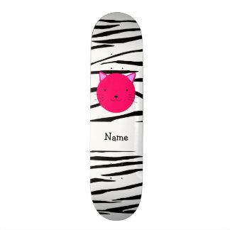 Listras cor-de-rosa conhecidas personalizadas da z shape de skate 18,1cm
