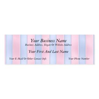 Listras cor-de-rosa e azuis modelo cartões de visita