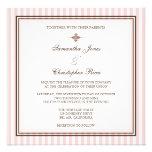 Listras cor-de-rosa lisas que Wedding convites