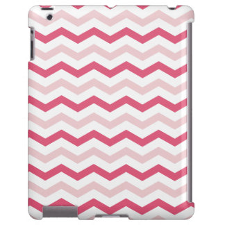 Listras cor-de-rosa na moda de Chevron Capa Para iPad