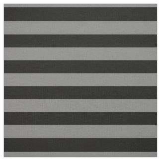 Listras corajosas cinzentas e pretas, tecido do