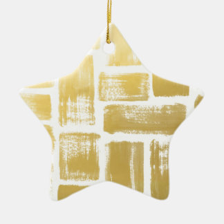 Listras da aguarela do Brushstroke do ouro Ornamento De Cerâmica