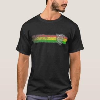 Listras da reggae de Rasta com o protetor de David Camiseta