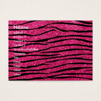 Listras da zebra do brilho do rosa quente cartão de visitas