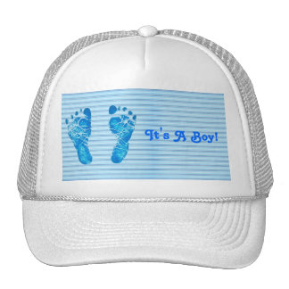 Listras de azuis bebés boné