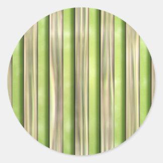 Listras de bambu adesivo em formato redondo