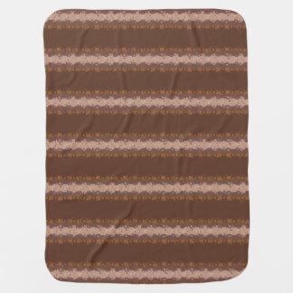 Listras de Brown com teste padrão dos círculos Cobertor Para Bebe
