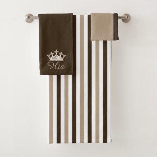 Listras de Brown e grupo de toalha de banho da