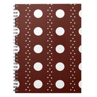 Listras de Brown Polkadot Caderno Espiral