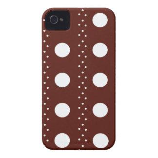 Listras de Brown Polkadot Capinha iPhone 4