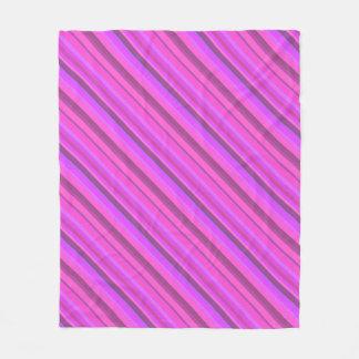 Listras diagonais cor-de-rosa cobertor de lã