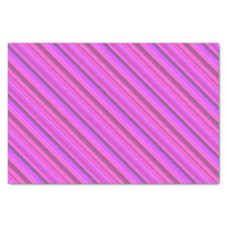 Listras diagonais cor-de-rosa papel de seda