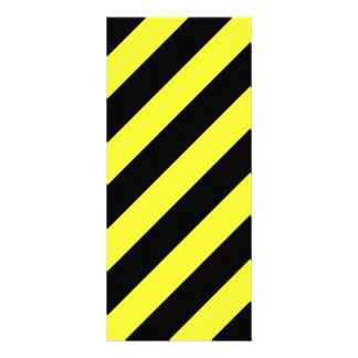 listras diagonais preto e amarelo panfleto