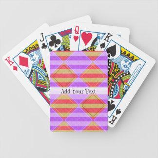 Listras, diamantes, teste padrão do ponto por cartas de baralhos