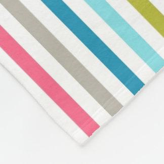Listras do arco-íris cobertor de lã