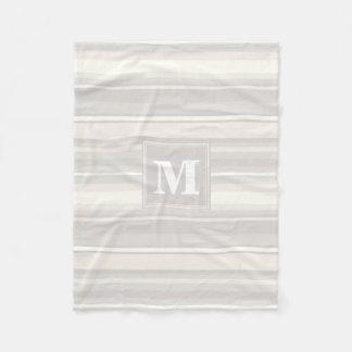 Listras do bege do monograma cobertor de lã